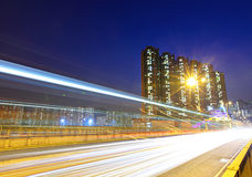 Fast moving traffic in city Royalty Free Stock Photography
