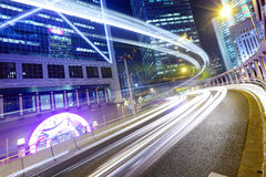 Fast moving traffic in Hong Kong Stock Photography