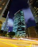 Fast moving traffic in Hong Kong Royalty Free Stock Image