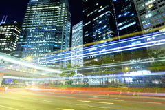 Fast moving traffic in Hong Kong Royalty Free Stock Photo