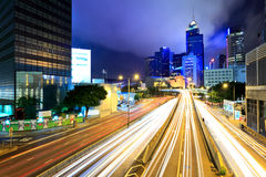Fast moving traffic in Hong Kong Royalty Free Stock Images