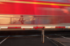 Fast moving train Stock Photo