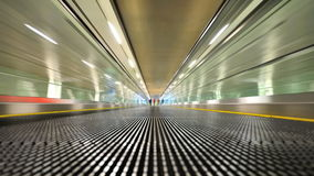 Fast moving travelator Stock Photo
