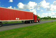 Fast moving truck Royalty Free Stock Photos