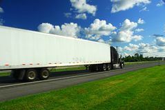 Fast moving truck royalty free stock images