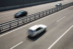 Fast-moving vehicles Royalty Free Stock Image