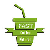 Fast natural coffee Stock Image