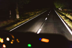 Fast night driving Royalty Free Stock Photography