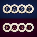 Fast paper icons design template Stock Image