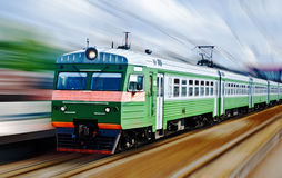 Fast passanger train Stock Photo