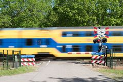 Fast passing train royalty free stock images