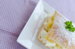 Fast pineapple dessert Stock Photo