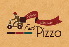 Fast pizza Royalty Free Stock Image