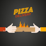 Fast pizza delivery Royalty Free Stock Photography