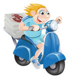 Fast pizza delivery man Royalty Free Stock Photos