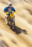 Fast Racer on Dirt Bike Stock Images
