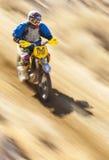 Fast Racer on Dirt Bike Stock Images