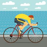 Fast racing cyclist Royalty Free Stock Image