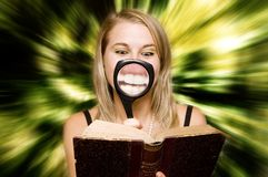 Fast reading Stock Image