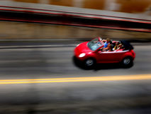 Fast Red Convertable with Speed Stock Photos