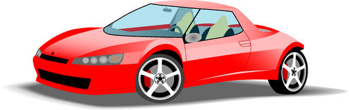 Fast red sports car. Digitally illustrated very fast red sports car Royalty Free Stock Images