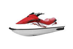 Fast red and white jet ski isolated Royalty Free Stock Images
