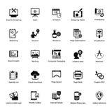 Fast rengöringsduk för symbolsdesignpacke och grafiskt planlägga royaltyfri illustrationer