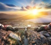 Fast ride on bike Stock Photo