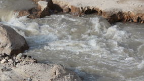 Fast river in a mountains stock footage