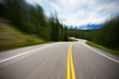 Fast Road stock image