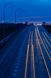 Fast road at night Stock Image
