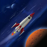 Fast Rocket in Space. Fast rocket blasting through space royalty free illustration
