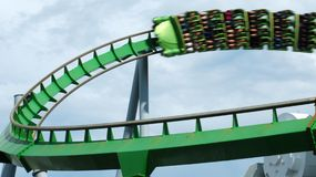 Fast Roller Coaster Ride Stock Images