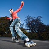 Fast rollerblading Royalty Free Stock Photo