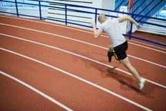 Fast runner stock image