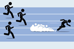 Fast runner sprinter overtaking everybody Stock Photography