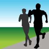 Fast Runners Royalty Free Stock Image