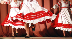Fast Russian folk dance fragment Royalty Free Stock Images