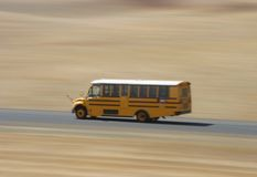 Fast School Bus Stock Photography