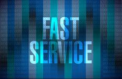Fast service binary message sign concept Stock Photography