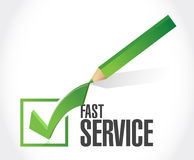 Fast service check list sign concept Royalty Free Stock Images