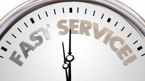 Fast Service Company时钟时间速度词 库存照片