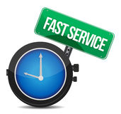 Fast service concept. Illustration design over a white background Royalty Free Stock Photography