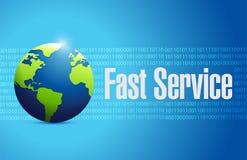 Fast service globe sign concept Stock Photo