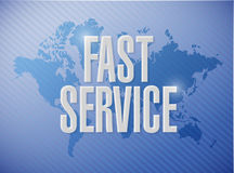 Fast service international sign concept Stock Photo