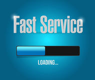 Fast service loading bar sign concept Stock Image