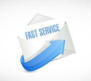 Fast service mail sign concept illustration Royalty Free Stock Photography