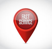 Fast service pointer sign concept illustration Stock Photo