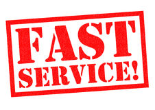 FAST SERVICE! Stock Photos