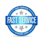 fast service seal sign concept illustration Stock Photo